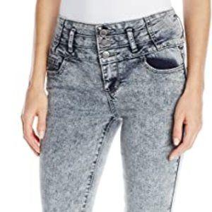 Hot Kiss High Waisted Acid Wash Skinny Jean Size 9